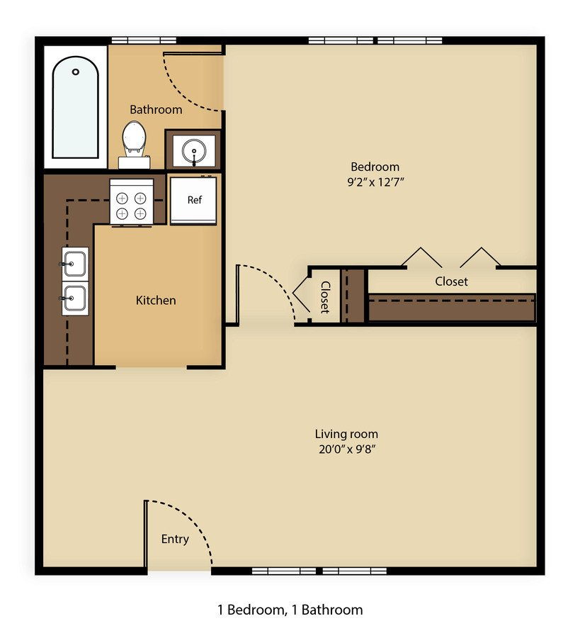 1 Bedroom 1 Bathroom Apartment for rent at The Hive On Laurel in Knoxville, TN