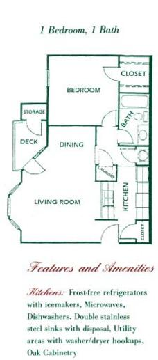 1 Bedroom 1 Bathroom Apartment for rent at Country Club Apartments in Columbia, MO