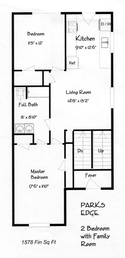 2 Bedrooms 2 Bathrooms Apartment for rent at Parks Edge in Columbia, MO