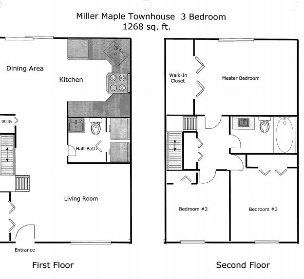 2 Bedrooms 2 Bathrooms Apartment for rent at Miller Maple Townhomes in Ann Arbor, MI