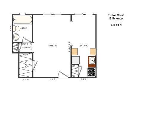 Studio 1 Bathroom Apartment for rent at Tudor Court in Cincinnati, OH