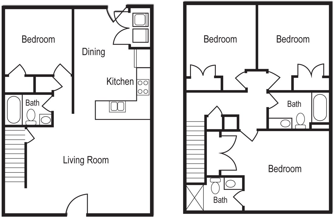 4 Bedrooms 3 Bathrooms Apartment for rent at Woodsong Village in Athens, GA