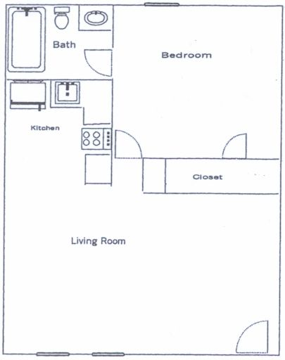 1 Bedroom 1 Bathroom Apartment for rent at Colonial in Athens, GA