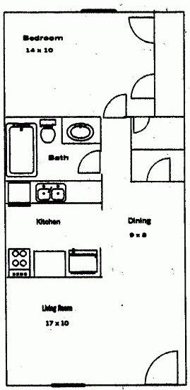 1 Bedroom 1 Bathroom Apartment for rent at Regency Park in Athens, GA