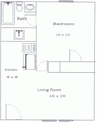1 Bedroom 1 Bathroom Apartment for rent at Riverview in Athens, GA