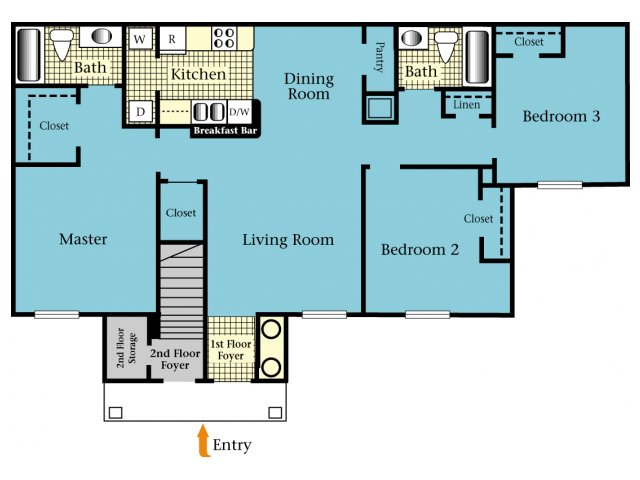 3 Bedrooms 2 Bathrooms Apartment for rent at Harbor Cove in Gainesville, FL