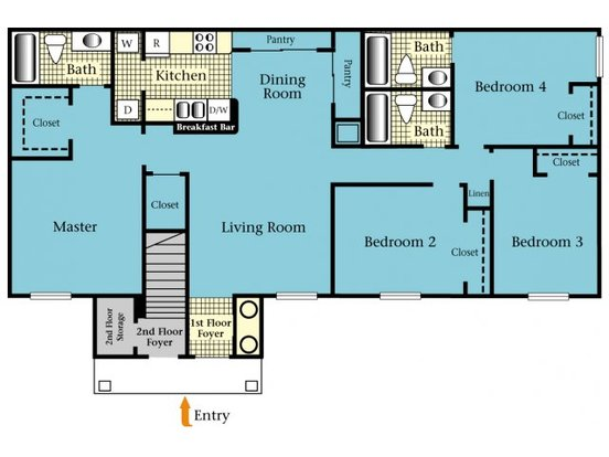 4 Bedrooms 3 Bathrooms Apartment for rent at Harbor Cove in Gainesville, FL