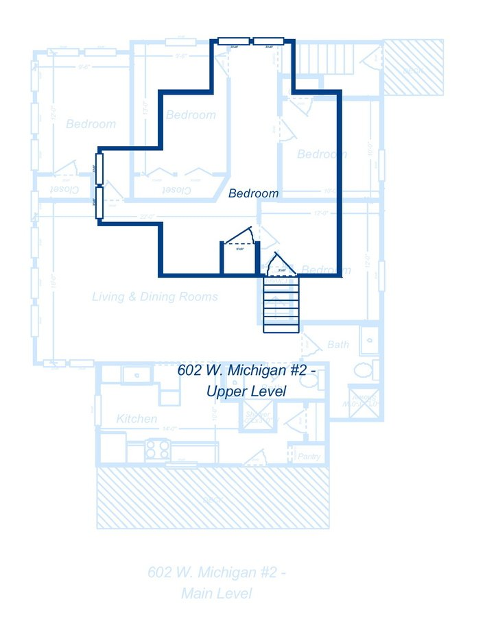 5 Bedrooms 2 Bathrooms Apartment for rent at 602 W. Michigan Ave in Ypsilanti, MI