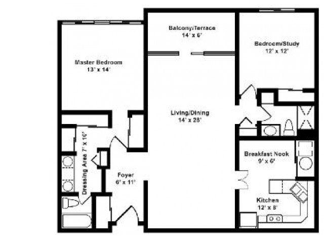 2 Bedrooms 2 Bathrooms Apartment for rent at Residences At Pleasant Ridge in Owings Mills, MD