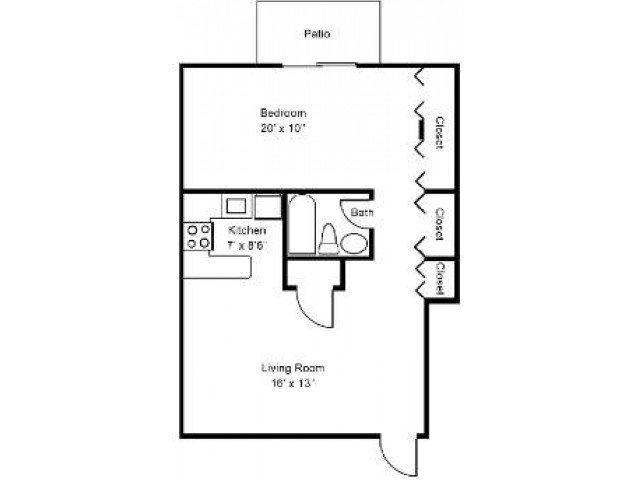 1 Bedroom 1 Bathroom Apartment for rent at Bright Meadows Townhomes in Owings Mills, MD