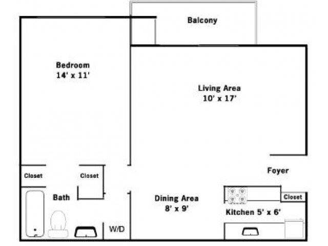 1 Bedroom 1 Bathroom Apartment for rent at Allyson Gardens Ii in Owings Mills, MD