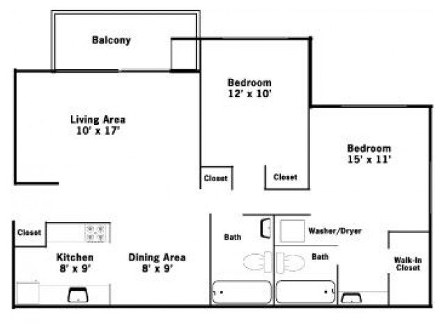 2 Bedrooms 2 Bathrooms Apartment for rent at Allyson Gardens Ii in Owings Mills, MD