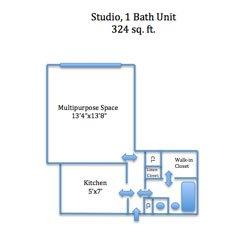 Studio 1 Bathroom Apartment for rent at Straight Street Apartments in Cincinnati, OH