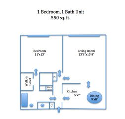 1 Bedroom 1 Bathroom Apartment for rent at Straight Street Apartments in Cincinnati, OH