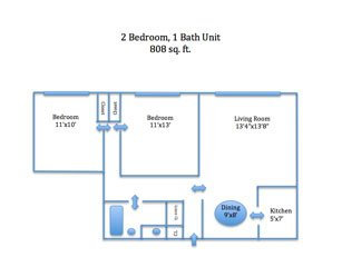2 Bedrooms 1 Bathroom Apartment for rent at Straight Street Apartments in Cincinnati, OH
