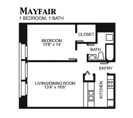 1 Bedroom 1 Bathroom Apartment for rent at The Pennsylvanian in Pittsburgh, PA