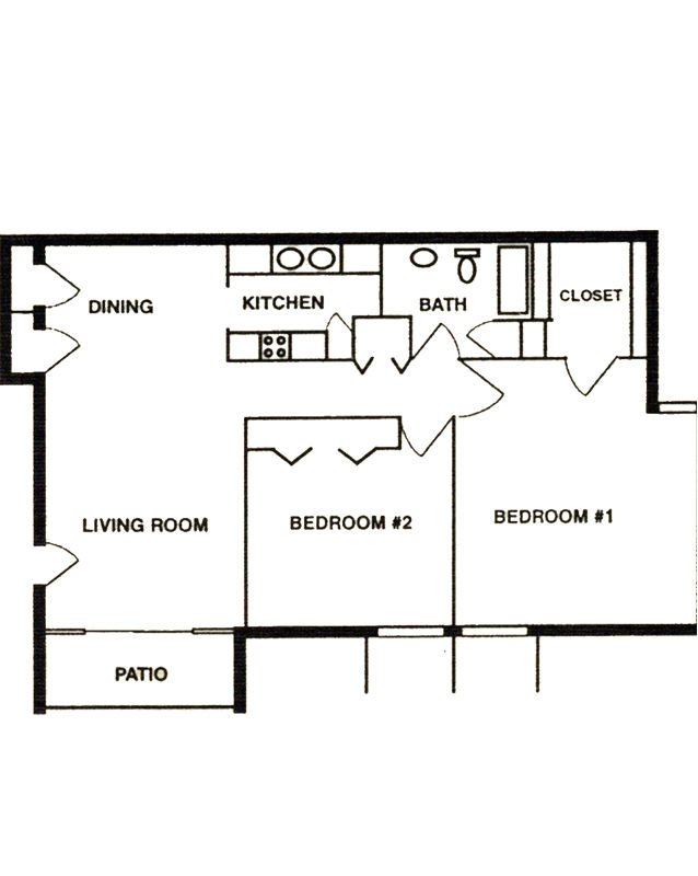 2 Bedrooms 1 Bathroom Apartment for rent at University Park Apartments in Louisville, KY