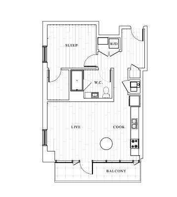 1 Bedroom 1 Bathroom Apartment for rent at The Tower At Opop in St Louis, MO