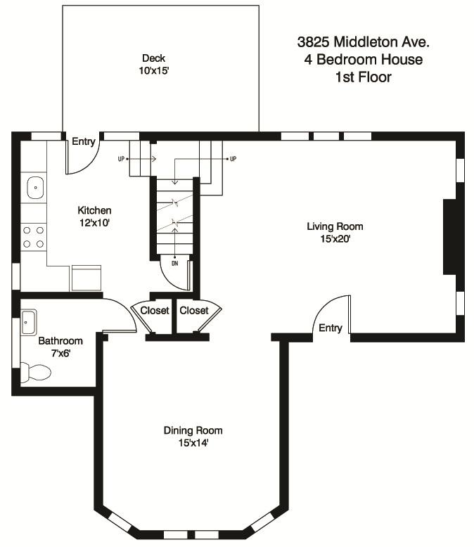 4 Bedrooms 3 Bathrooms House for rent at 3825 Middleton in Cincinnati, OH