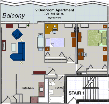 2 Bedrooms 1 Bathroom Apartment for rent at Huron Towers in Ann Arbor, MI