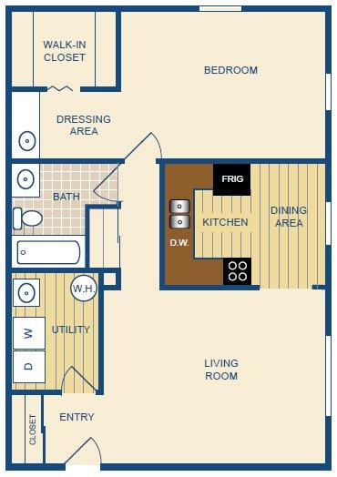 1 Bedroom 1 Bathroom Apartment for rent at Montclair In The Woods in Cincinnati, OH
