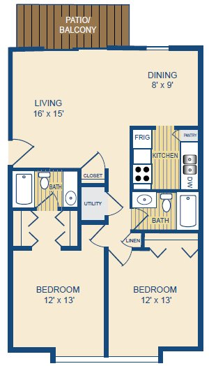 2 Bedrooms 2 Bathrooms Apartment for rent at Pine Ridge in Cincinnati, OH