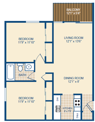 2 Bedrooms 1 Bathroom Apartment for rent at Woodgrove Point in Cincinnati, OH