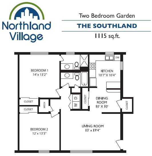 2 Bedrooms 2 Bathrooms Apartment for rent at Northland Village in Cincinnati, OH