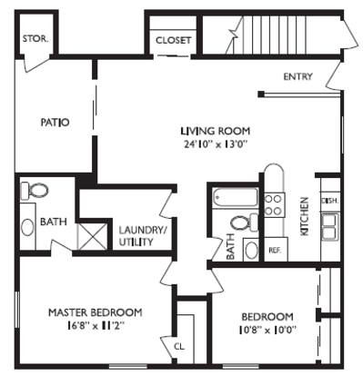 2 Bedrooms 2 Bathrooms Apartment for rent at Bradywine Court Apartments in Fairfield, OH