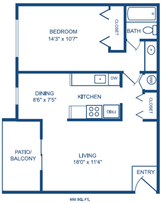 1 Bedroom 1 Bathroom Apartment for rent at The Lofts Of Prospect Point in Villa Hills, KY