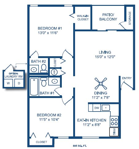 2 Bedrooms 1 Bathroom Apartment for rent at The Lofts Of Prospect Point in Villa Hills, KY