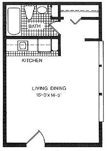 Studio 1 Bathroom Apartment for rent at Island Drive Apartments in Ann Arbor, MI
