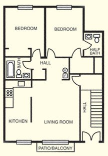 2 Bedrooms 1 Bathroom Apartment for rent at Four Seasons Apartments in Louisville, KY