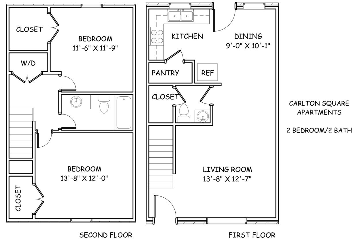 2 Bedrooms 2 Bathrooms Apartment for rent at Carlton Square in Knoxville, TN
