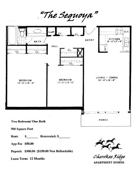 2 Bedrooms 1 Bathroom Apartment for rent at Cherokee Ridge Aaprtments in Knoxville, TN