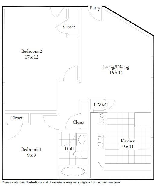 2 Bedrooms 1 Bathroom Apartment for rent at Bulluck Terrace Condominiums in Cincinnati, OH