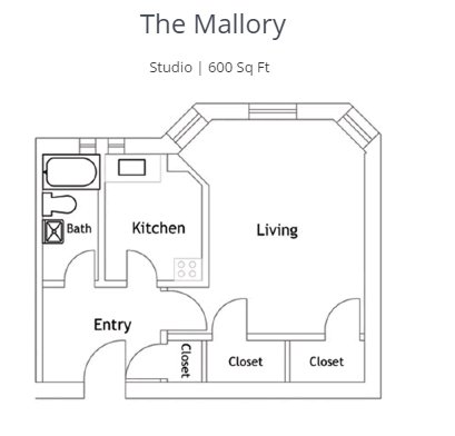 Studio 1 Bathroom Apartment for rent at The Roslyn in Cincinnati, OH
