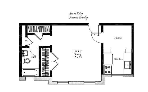 Studio 1 Bathroom Apartment for rent at The Hosea in Cincinnati, OH