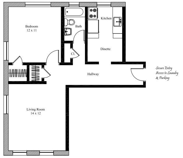 1 Bedroom 1 Bathroom Apartment for rent at The Hosea in Cincinnati, OH