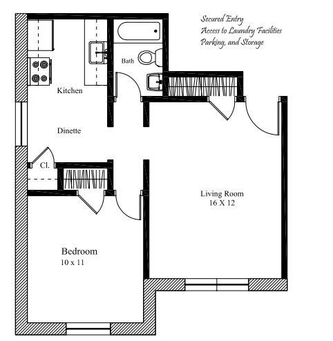 1 Bedroom 1 Bathroom Apartment for rent at The Telford in Cincinnati, OH
