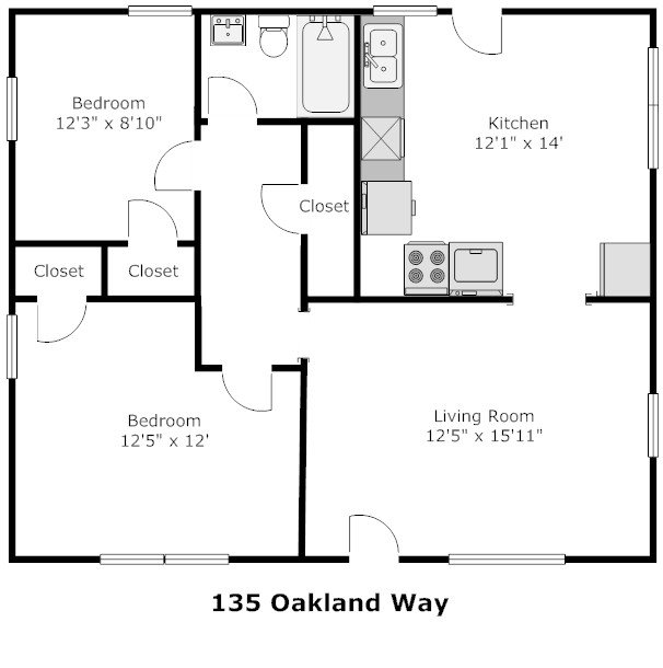 2 Bedrooms 1 Bathroom House for rent at 135 Oakland Way in Athens, GA