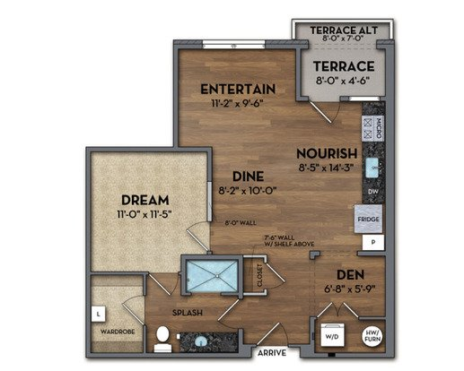 1 Bedroom 1 Bathroom Apartment for rent at The Huron in Denver, CO
