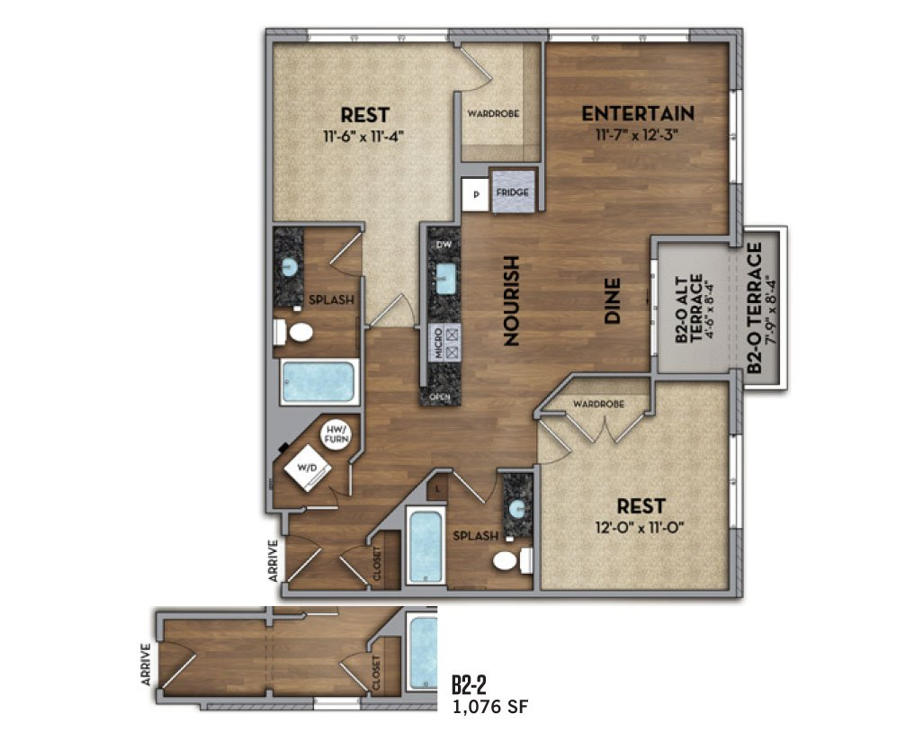 2 Bedrooms 2 Bathrooms Apartment for rent at The Huron in Denver, CO