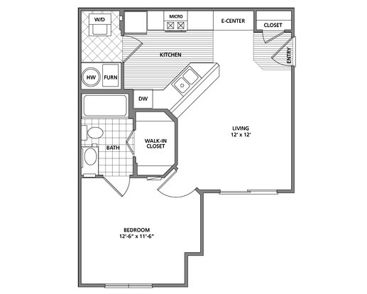 1 Bedroom 1 Bathroom Apartment for rent at Preston Gardens Apartments in Perrysburg, OH