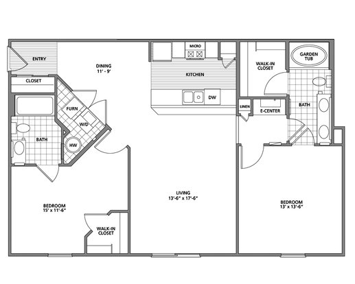 2 Bedrooms 2 Bathrooms Apartment for rent at Preston Gardens Apartments in Perrysburg, OH
