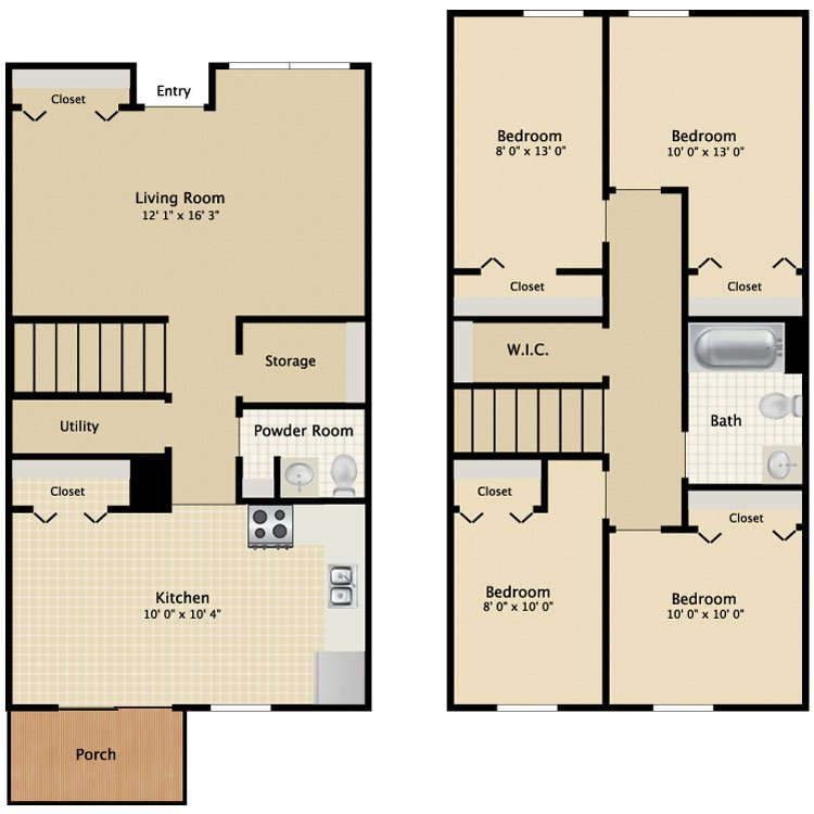 4 Bedrooms 1 Bathroom Apartment for rent at Greenbelt Place in Toledo, OH