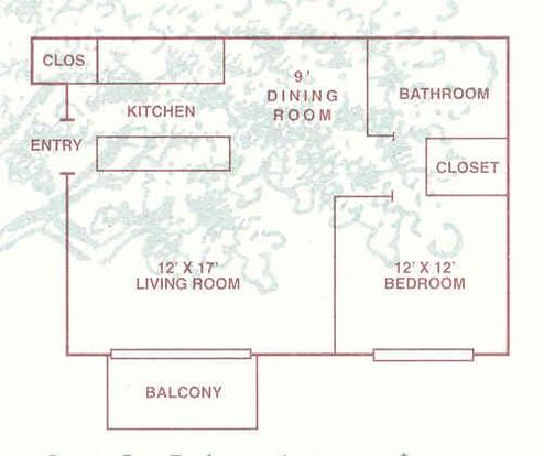 1 Bedroom 1 Bathroom Apartment for rent at Oak Hill Apartments in Toledo, OH