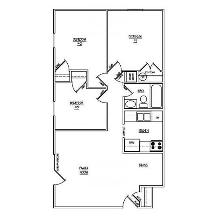 3 Bedrooms 1 Bathroom Apartment for rent at Park Lake in Louisville, KY