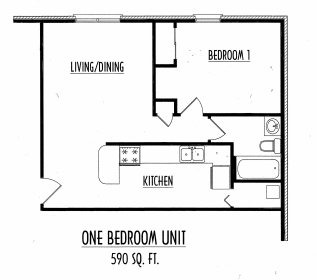 1 Bedroom 1 Bathroom Apartment for rent at Belmont Run in Lexington, KY