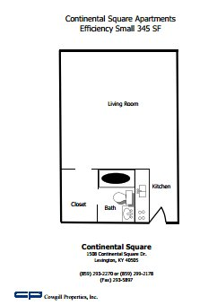 Studio 1 Bathroom Apartment for rent at Continental Square in Lexington, KY